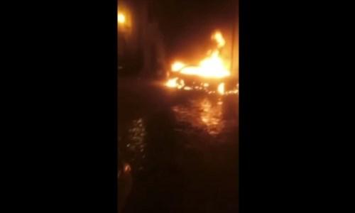Aprigliano, in fiamme l'auto del militante della Lega Adriano Parise