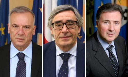 Da sinistra, Mimmo Tallini, Baldo Esposito e Piero Aiello