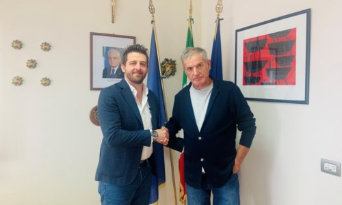 Il sindaco Stasi e il Presidente Agostinelli