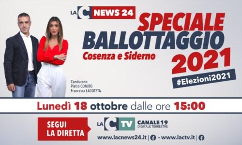 Elezioni CalabriaSpeciale ballottaggio Cosenza e Siderno, i risultati e gli aggiornamenti nella maratona di LaC Tv