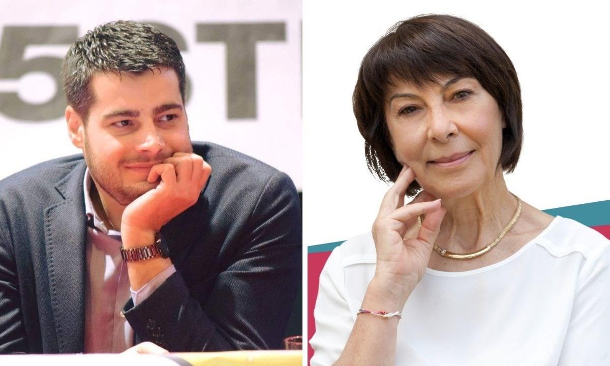 Riccardo Tucci e Amalia Bruni, foto dai profili Fb