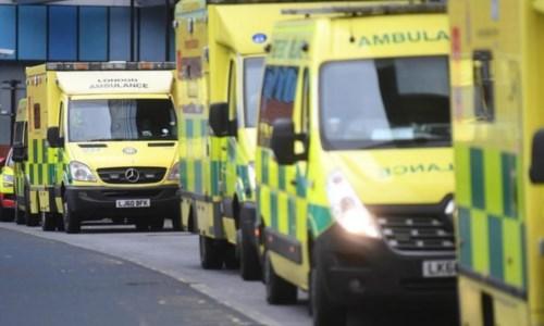 Ambulanze in fila (Foto archivio Ansa)
