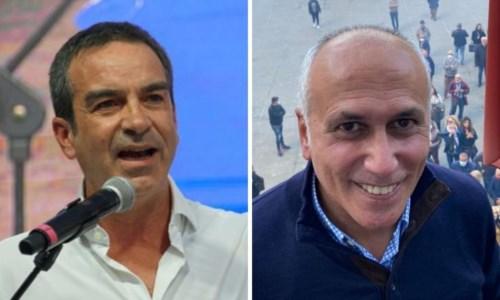 A sinistra Roberto Occhiuto, a destra Franz Caruso