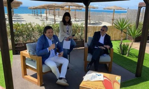 Fausto Orsomarso e Lucio Presta durante la presentazione del progetto Calabria terra dei padri