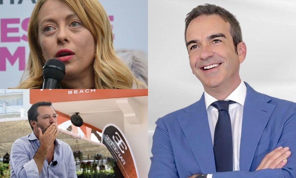 Giorgia Meloni, Matteo Salvini e Roberto Occhiuto