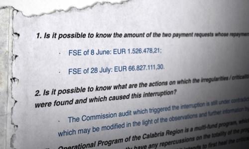 L'inchiesta di LaCBlocco dei fondi, la Commissione europea smentisce la Regione Calabria: ecco i documenti