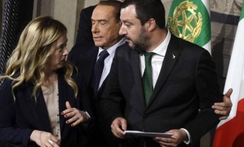 Meloni, Berlusconi e Salvini (foto ansa)