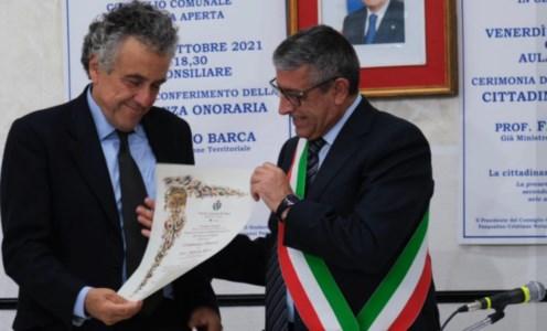 L'ex ministro Barca e il sindaco Papasso