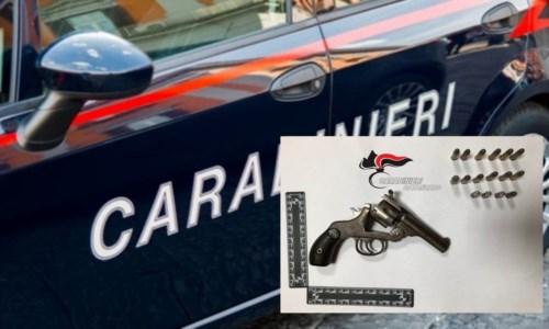 Maida, aveva una pistola carica detenuta illegalmente in camera da letto e diverse munizioni: denunciato