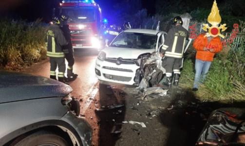 Incidente nei pressi dello svincolo A2 Pizzo, tre auto coinvolte