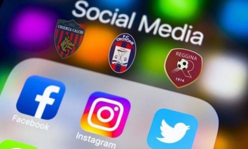 Le calabresi di Serie B sui social: il Crotone vola e la Reggina cresce a dismisura