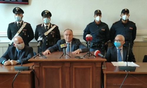 Il procuratore aggiunto, Giancarlo Novelli, il procuratore capo, Nicola Gratteri, il procuratore aggiunto, Vincenzo Capomolla