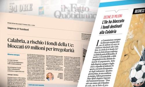 L'inchiesta di LaCBlocco dei fondi europei destinati alla Calabria: lo scoop di LaC News24 diventa un caso nazionale
