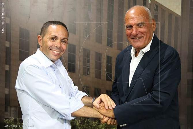 Il presidente del Gruppo Pubbliemme Domenico Maduli e il direttore di LaC News24 Pietro Melia