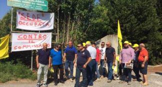La protesta a Roccella Ionica