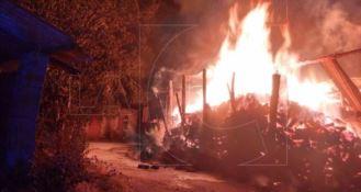 Incendio a San Costantino Calabro