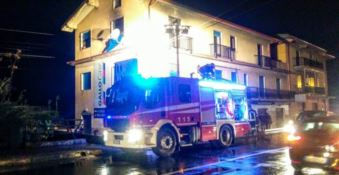 In fiamme un'abitazione di Belvedere Marittimo