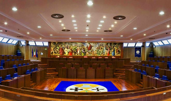 La sala del Consiglio regionale della Calabria