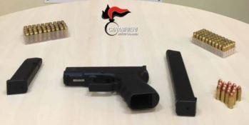 La pistola rinvenuta