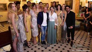 I Tessuti di Celestino e la creatività di Claudio Greco sfilano a Roma