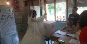 Catanzaro, sposa alle urne