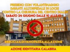 Presidio di Azione Identitaria per dire no alla chiusura del Centro Dialisi di Locri