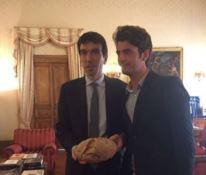 Il ministro Martina con Caccavari