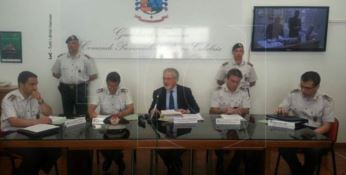 La conferenza stampa dell'operazione