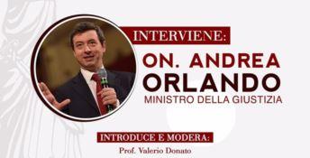 Il ministro della Giustizia Andrea Orlando il 20 novembre a Catanzaro