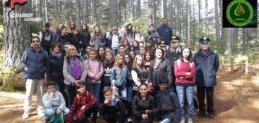 Catanzaro, carabinieri e studenti alla scoperta della biodiversità