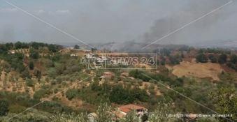 Incendio in contrada Serra Spiga