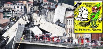 L'ironia di Charlie Hebdo sulla tragedia del ponte Morandi scatena le polemiche