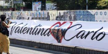 Il lungo abbraccio di Roma a Carlo e Valentina, vittime del Raganello