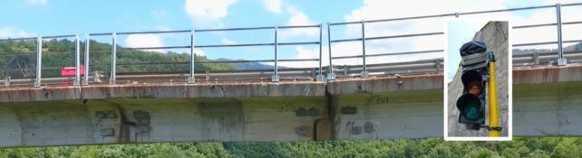 Prove tecniche dell'Anas sul ponte di Celico. Ma il semaforo oscurato non segnala il pericolo