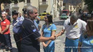 Il capo della Protezione civile a Civita