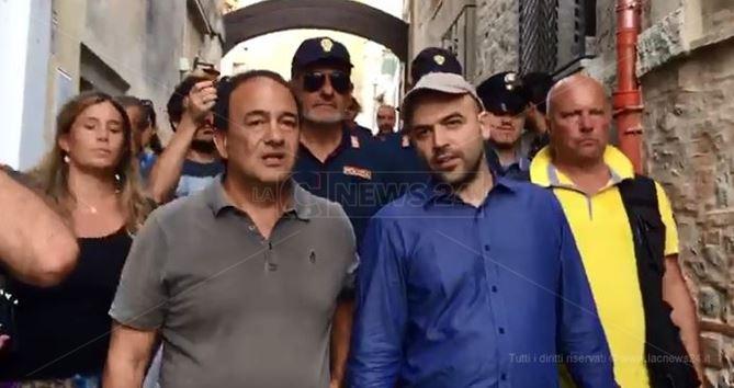 Mimmo Lucano e Roberto Saviano