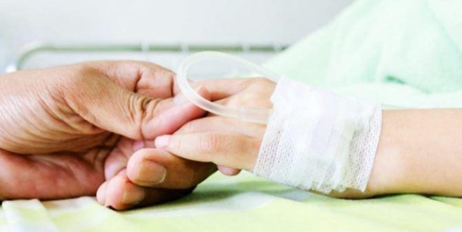 Bambino in ospedale, foto di repertorio