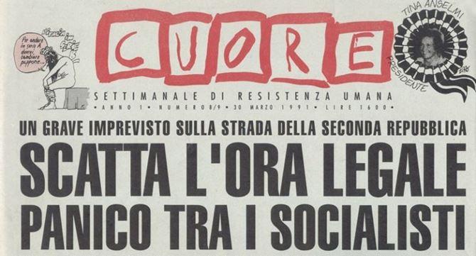 La famosa edizione della rivista Cuore del 25 marzo 1991 che fece ironia sui socialisti
