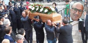 I funerali di Gianfranco Fumarola svoltisi a Cisternino (Brindisi)