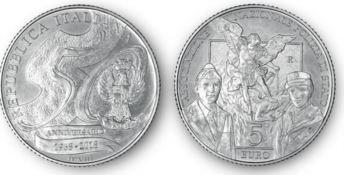 Una moneta d'argento per il 50esimo anniversario dell'Associazione polizia