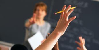 Un'insegnante in classe