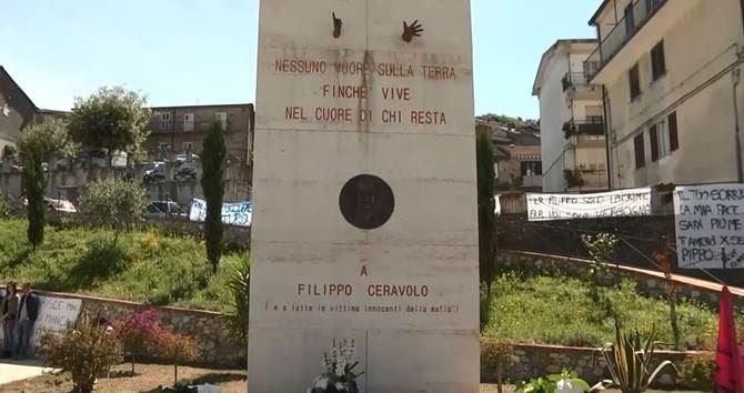 Il monumento dedicato a Filippo Ceravolo a Soriano Calabro