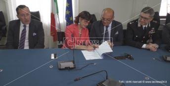 Sicurezza a Crotone, firmato accordo tra Prefettura e Comune