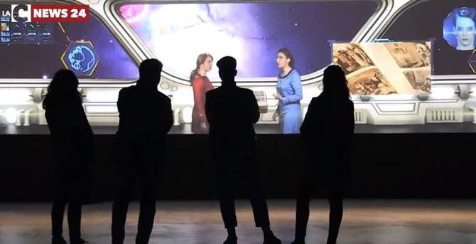 giovani in visita al Museo Multimediale di Cosenza