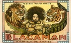 Un manifesto del circo di Blacaman