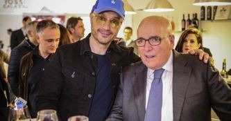 Joe Bastianich e Mario Oliverio a Vinitaly 2018