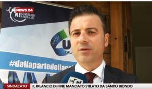 Uil Calabria, Santo Biondo confermato segretario - VIDEO