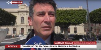 Congresso Pd, la sponda di Canale alla segreteria unitaria di Battaglia -VIDEO