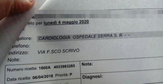 83enne malato prenota un esame cardiologico: rimandato al 2020 -VIDEO