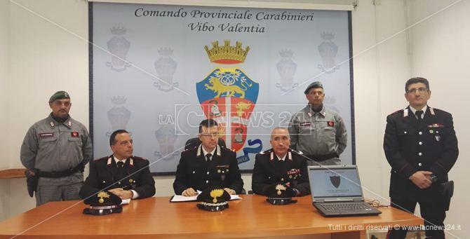 La conferenza stampa dei Carabinieri forestali